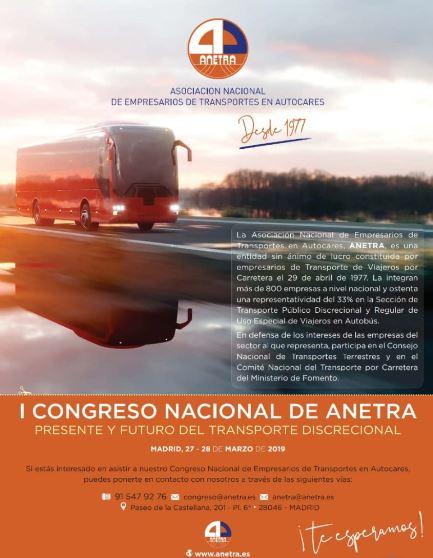 En marzo Anetra celebrará su I Congreso Nacional en Madrid
